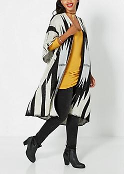 Geo Striped Knit Wrap