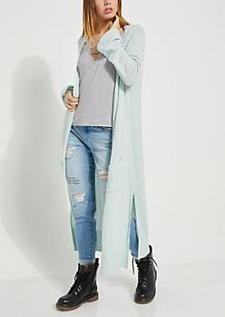 Mint Cozy Knit Duster Cardigan
