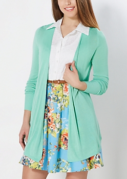 Mint Cinched Back Cardigan