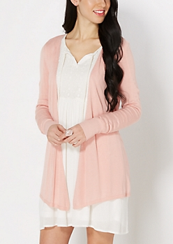 Pink Cinched Back Cardigan