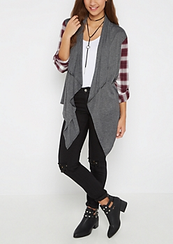 Plaid Cascading Cardigan By Sadie Robertson X Wild Blue