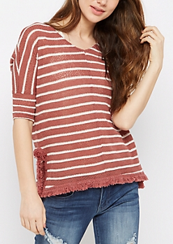 Fringed Dolman Top By Sadie Robertson X Wild Blue