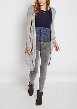Cascading Lace Cardigan By Sadie Robertson X Wild Blue