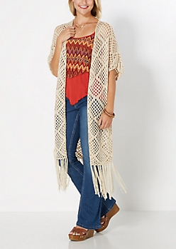 Cozy Crochet Fringe Wrap by Coco + Jameson®