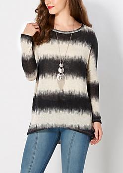 Tie-Dye Dolman Sweater