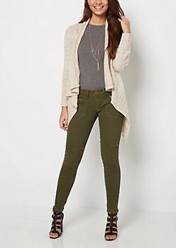 Ivory Shadow Striped Cardigan