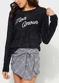 Mon Amour Fuzzy Sweater