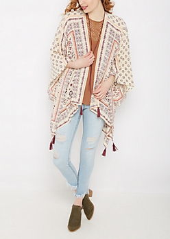Folklore Tasseled Cascading Kimono