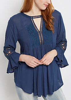 Rose Lace Babydoll Top