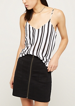 Striped Georgette Chiffon Cami