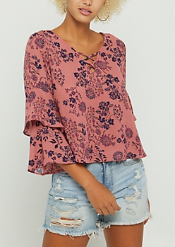 Wildflower Layered Bell Sleeve Blouse