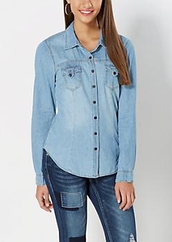 Light Blue Jean Button Down