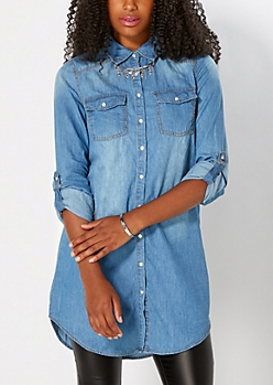 Medium Blue Chambray Button Down
