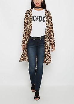 Leopard Kimono Duster
