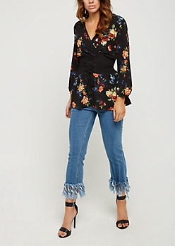 Floral Corset Smocked Top