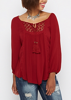 Crochet Medallion Peasant Top By Clover + Scout®
