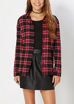 Red Tartan Plaid Button Down