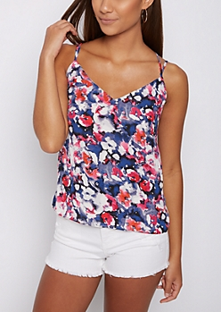 Floral Blotted Cami