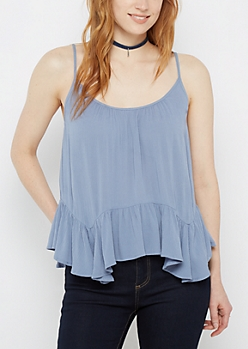 Gauze Lattice Hanky Cami