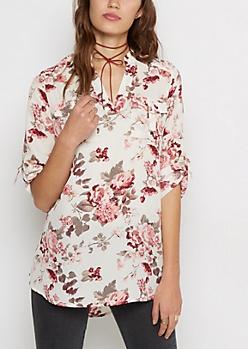 Rose D-Ring Pocket Tunic Shirt