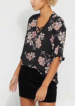 Wildflower Cross Strap Blouse