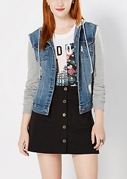 Vintage Hooded Denim Jacket