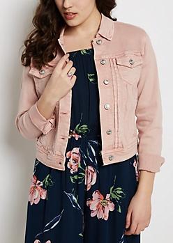 Pink Washed Jean Jacket