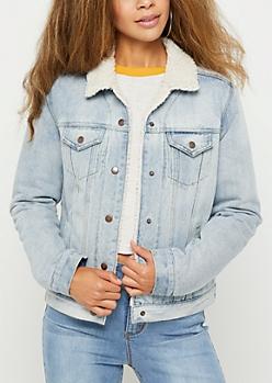 Vintage Jean Sherpa Lined Jacket