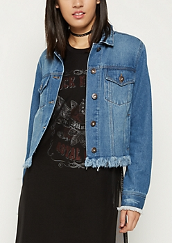 Frayed Vintage Washed Jean Jacket