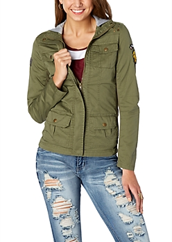 Patched Military Jacket