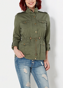 Olive Military Twill Jacket