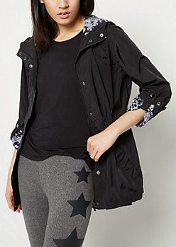 Hooded Nylon Anorak Jacket