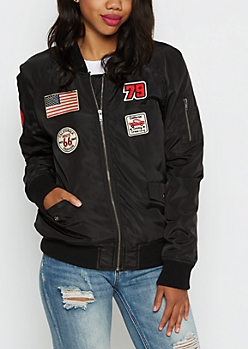Black Cali Patched Bomber
