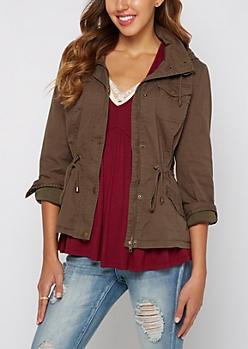 Twill Lined Anorak Jacket