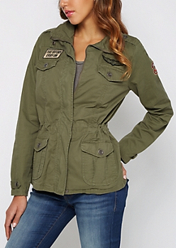 Aviator Patched Military Jacket