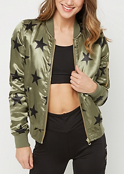 Black Star Bomber Jacket