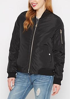 Black Utility Flight Jacket
