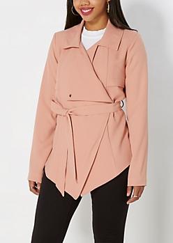 Cascading Front Wrap Jacket