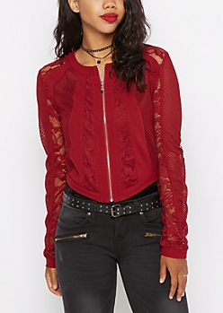 Red Lace Bomber