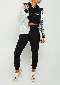 Metallic Silver Windbreaker