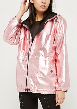 Metallic Pink Windbreaker