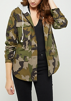 Speak Your Mind Camo Anorak