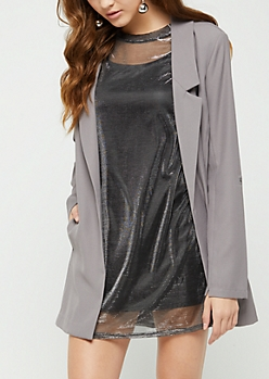 Gray Oversized Blazer