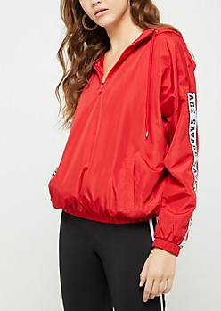 Red Savage Windbreaker