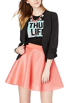 Ruched Sleeve Cropped Blazer