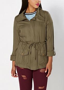 Olive Green Twill Jacket