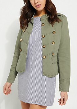 Olive Lightweight Military Jacket