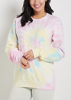 Pastel Tie-Dye Oversized Sweatshirt