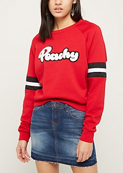 Peachy Raglan Sweatshirt