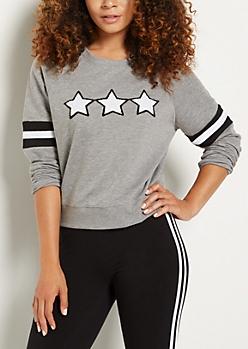 Heather Gray Triple Star Sweatshirt
